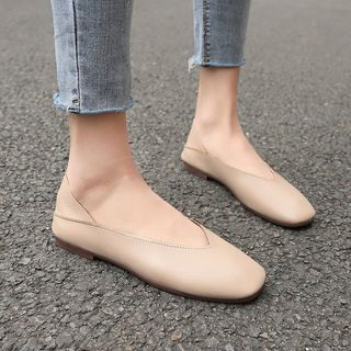 Sunsteps - Genuine Leather Square Toe Flats