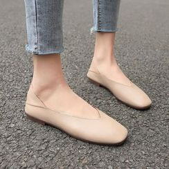 Sunsteps - Genuine Leather Square Toe Flats