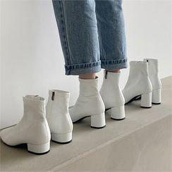 MONOBARBI - Chunky-Heel Ankle Boot (3.5cm/5.5cm/7cm)