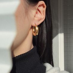 EBIZA - Polished Stainless Steel Hoop Earring
