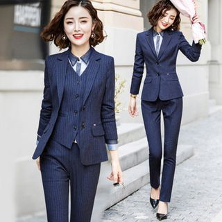 Victoire - Blazer / Vest / Shirt / Dress Pants / Mini Pencil Skirt /  Set