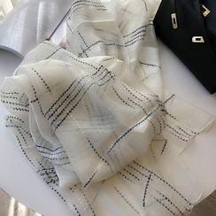 Mogul - 格子网纱围巾