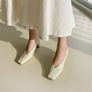 MONOBARBI - Square-Toe Mid-Heel Pumps