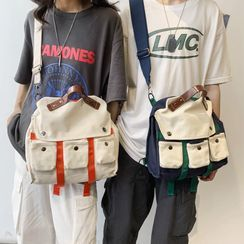 Carryme(キャリーミー) - Buckled Canvas Crossbody Bag