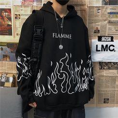 Banash - Flame Print Hoodie
