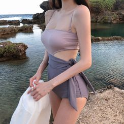 Hipper - Two-Tone Cutout Swimsuit