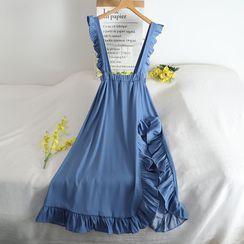 Pinatra - 纯色背带中裙