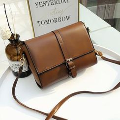 LEANON - Faux Leather Crossbody Bag