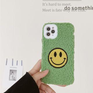 Scotmila - Chenille Smiley Face Mobile Mobile Case - Iphone 7 / 8 / Se / 7plus / 8plus / X / Xs / Xs Max / Xr /11/11 Pro/11 Pro Max / 12 / 12pro / 12 Mini / 12 Pro Max