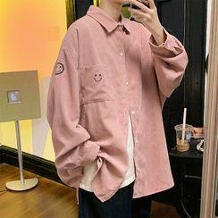 SuperLittle - Long Sleeve Corduroy Smile Face Shirt