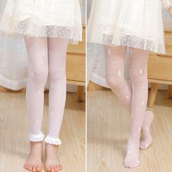 Huasha - Kids Plain Tights / Leggings