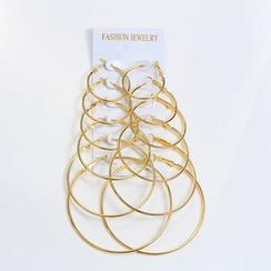 MUNGO - Set of 6 Pairs: Hoop Earrings