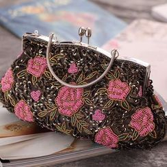 Moonflower - 碎花夹子边手包