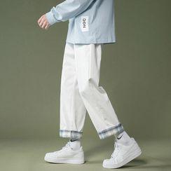 Groove Tower - 格子內襯直筒褲