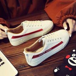 Solejoy - Canvas Contrast-Trim Sneakers