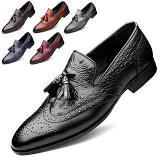 WeWolf - Tasseled Genuine-Leather Wing-Tip Loafers