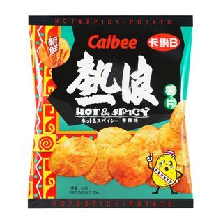 Calbee - Hot & Spicy Potato Chips 25g
