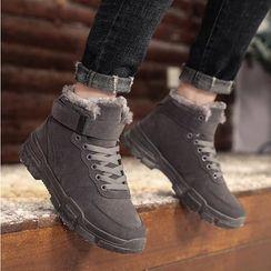 MARTUCCI - Fleece-lined High-top Sneakers