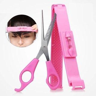 Jemai - 套裝: 瀏海修剪工具 + 剪刀