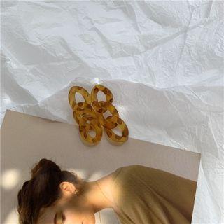 Mojia - Marble Print Hoop Earring