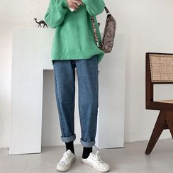 GEE58 - Elastic Waist Harem Jeans