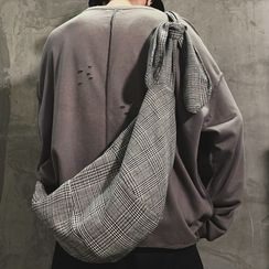 SUNMAN - Houndstooth Cotton Tote Bag