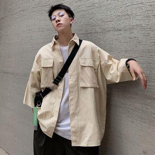 Breeson - Long-Sleeve Plain Shirt
