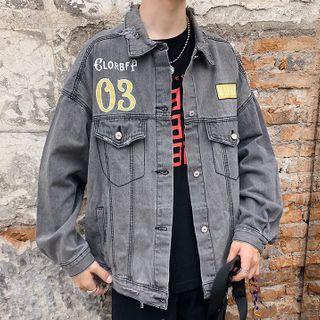 Wescosso - Lettering Denim Jacket