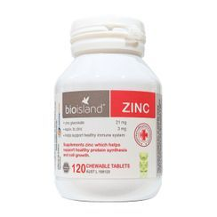 Bio Island - Zinc for Kids Chewable Tablets