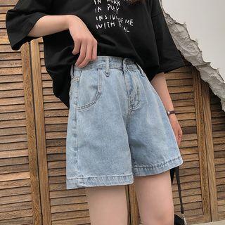 monroll - High-Waist Denim Shorts