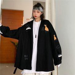 Chikee - 猫印花饰钮扣夹克