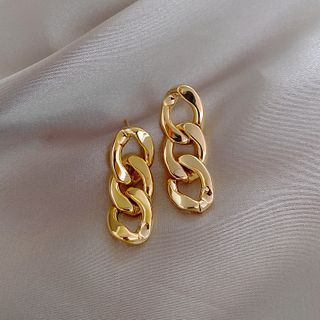 True Glam - Chunky Chain Drop Earring