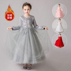 Doveark - Girls Long Sleeve Puff Dress