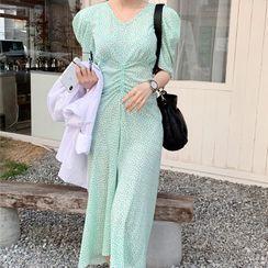 Merlene - 复古碎花连衣长裙