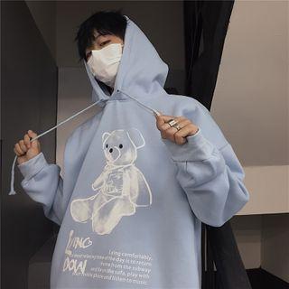 Giuliana - Bear Print Hoodie
