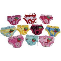 Dazzfur - 水果印花衛生寵物褲子