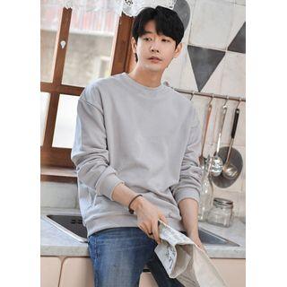 GERIO - Loose-Fit Cotton Sweatshirt in 20 Colors