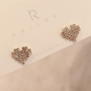 True Glam - Rhinestone Crown Dangle Earring