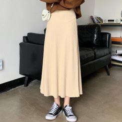 Ikanox - Maternity Midi A-Line Skirt