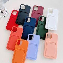 Vachie(ヴァチー) - Plain Card Holder Phone Case - iPhone 12 Pro Max / 12 Pro / 12 / 12 mini / 11 Pro Max / 11 Pro / 11 / SE / XS Max / XS / XR / X / SE 2 / 8 / 8 Plus / 7 / 7 Plus