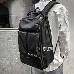 EAVALURE(イーヴァルア) - Lettering Multi-Section Laptop Backpack