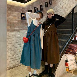 GOUB - 小高领长袖上衣 / 背带A字连衣中裙