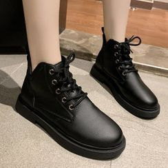 Weiya(ウェイヤ) - Lace-Up Ankle Boots