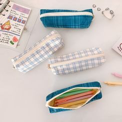 Ikiana - Plaid Fabric Pencil Case