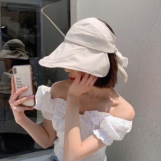 Pompabee - Plain Wide Brim Visor Hat