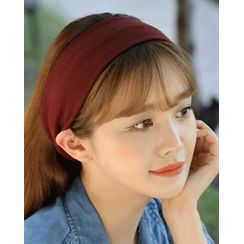 Miss21 Korea(ミス21コリア) - Wide Fabric Hair Band (23 Colors)