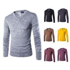 Aozora - Long-Sleeve V-Neck T-Shirt