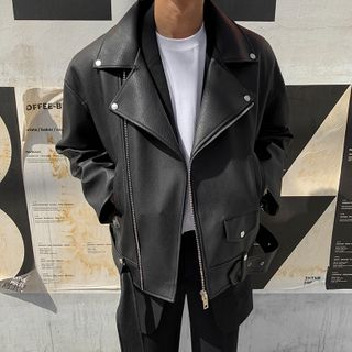 MRCYC - Faux Leather Biker Jacket
