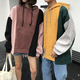 Balak - Couple Matching Color-Block Hoodie