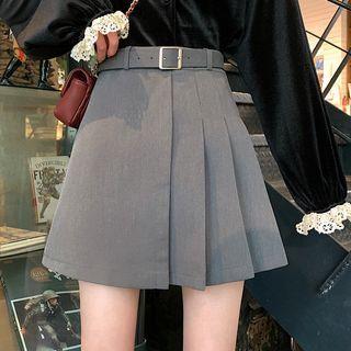 Shopherd - Pleated A-Line Mini Skirt